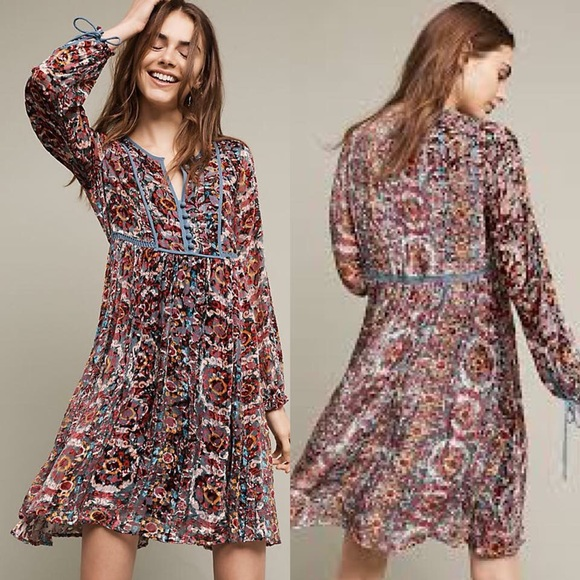 d9816799dc19 Abia Velvet Peasant Dress By Floreat. NWT. Anthropologie